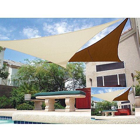 Coolaroo 174 11 Foot 10 Inch Triangle Shade Sails Bed Bath