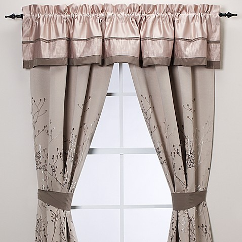 buy manor hill lark brown window valance from bed bath