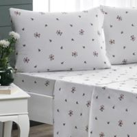 Brielle Rose Garden Full Sheet Set in White