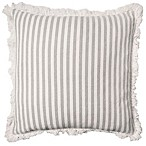 Ayana Coastal Striped Throw Pillow in Ivory