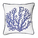 Coral Reef Coastal Throw Pillow in Navy