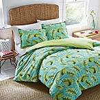 Nine Palms Palm Cove Reversible King Comforter Set in Turquoise/Aqua