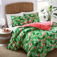 Nine Palms Del Carmen Full/Queen Duvet Cover Set in Bright Green