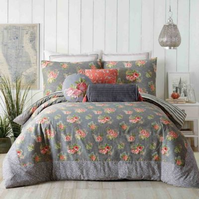 Jessica Simpson Marteen Reversible King Comforter Set In Grey