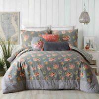 Jessica Simpson Marteen Reversible King Comforter Set in Grey