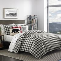 Eddie Bauer® Mountain Plaid Twin Duvet Set in Black