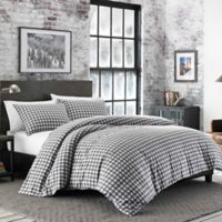 Eddie Bauer® Preston Flannel Twin Duvet Cover Set in Dark Grey
