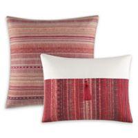 Azalea Skye® Diya Ombré Stripe Throw Pillows in Red (Set of 2)