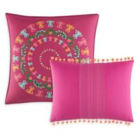Azalea Skye® Myra Embroidered Throw Pillows in Dark Pink (Set of 2)