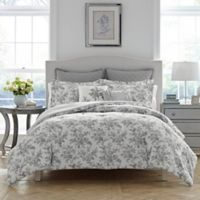 Laura Ashley Annalise Reversible Twin Comforter Set in Medium Grey