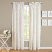 Laura Ashley® Adelina 84-Inch Rod Pocket Window Curtain Panel Pair in White