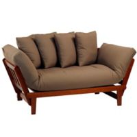 Casual Home Lounger Sofa Bed In Oak Khaki