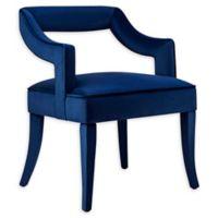 TOV Furniture Tiffany Velvet Upholstered Dining Chair in Navy