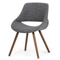 Simpli Home™ Wood Upholstered Dining Chair in Grey