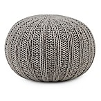 Simpli Home™ Shelby Cotton Round Pouf in Dove