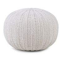 Simpli Home™ Shelby Cotton Round Pouf in Cream
