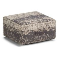 Simpli Home™ Linen Upholstered Ottoman in Taupe