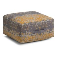 Simpli Home™ Linen Upholstered Ottoman in Yellow