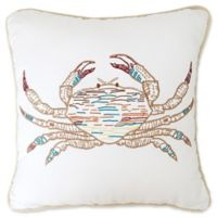 C&F Home Crab Embroidered Square Throw Pillow in Tan