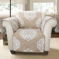 Lush Décor Sophie Arm Chair Protector in Taupe