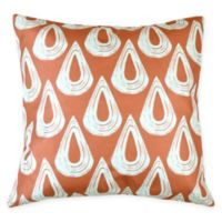 Versailles Home Fashions Alto Square Throw Pillow in Orange