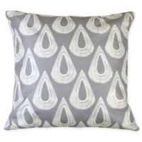 Versailles Home Fashions Alto Square Throw Pillow in Grey