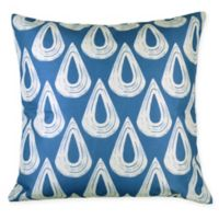 Versailles Home Fashions Alto Square Throw Pillow in Blue