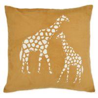 Versailles Home Fashions Giraffe Square Throw Pillow in Tan