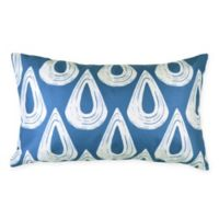Versailles Home Fashions Delta Rectangular Throw Pillow in Blue