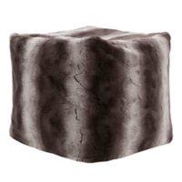 Madison Park Zuri Ombre Faux Fur Pouf in Chocolate
