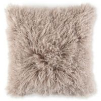Caskata Lamb's Wool Square Throw Pillow in Taupe
