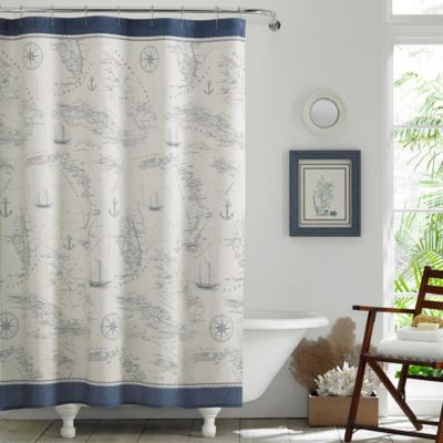 Tommy Bahama® Caribbean Sea Shower Curtain In Blue