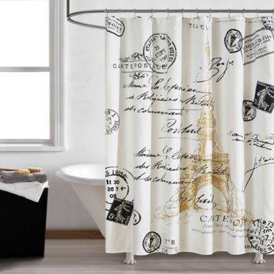 Paris Gold 72 Inch Square Shower Curtain