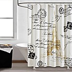 Paris Gold 72-Inch Square Shower Curtain