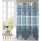 VCNY Home Paola Shower Curtain in Aqua
