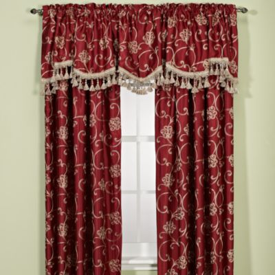 arlington 84inch insulating window curtain panel in merlot
