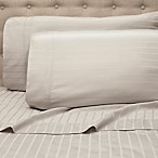 Studio Row 600-Thread-Count Stripe King Sheet Set in Silver
