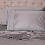 Notting Hill Solid 400-Thread-Count Queen Sheet Set in Grey
