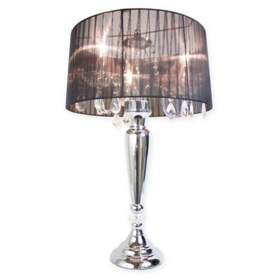 Buy 3 light table lamp from bed bath beyond elegant designs crystal palace 3 light table lamp in black mozeypictures Choice Image