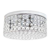 Elegant Designs Elipse Round 2-Light Flush-Mount Ceiling Light in Chrome