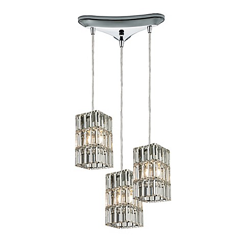 elk lighting cynthia group 3 light ceiling mount pendant in polished