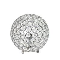 Crystal Ball Table Lamp in Chrome