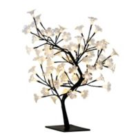 All the Rages Simple Designs Cherry Blossom LED Tree Table Lamp in Black
