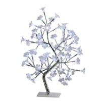 All the Rages Simple Designs Morning Glory LED Tree Table Lamp in White