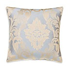Glenna Jean Little Prince Damask Throw Pillow in Blue