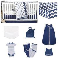 The PeanutShell™ Sail Away 11-Piece Sleep Essentials Crib Set in Navy