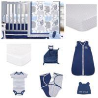 The Peanut Shell™ Little Peanut Navy 11-Piece Sleep Essentials Crib Set