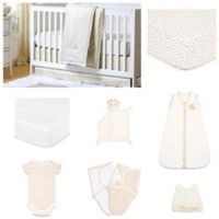 The PeanutShell™ All that Glitters Confetti 11-Piece Sleep Essentials Crib Set in Gold