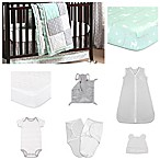 The Peanut Shell® Adventure Patch 11-Piece Sleep Essentials Crib Set in Mint/Grey