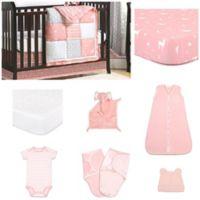 The PeanutShell™ Woodland Pixie 11-Piece Sleep Essentials Crib Set in Coral